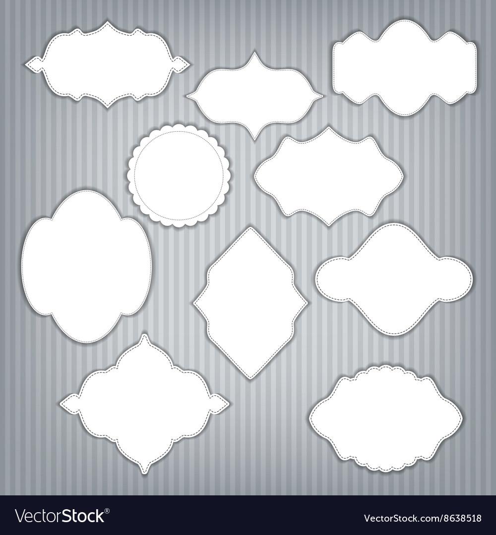 Set of frame with design vector image