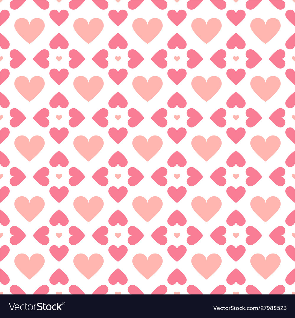 Abstract seamless geometric pattern with hearts in