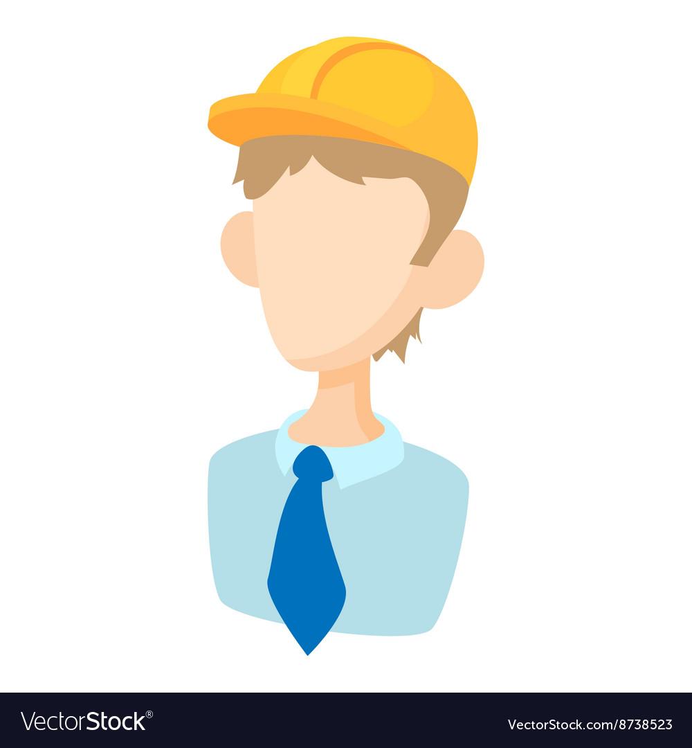 Builder icon in cartoon style vector image