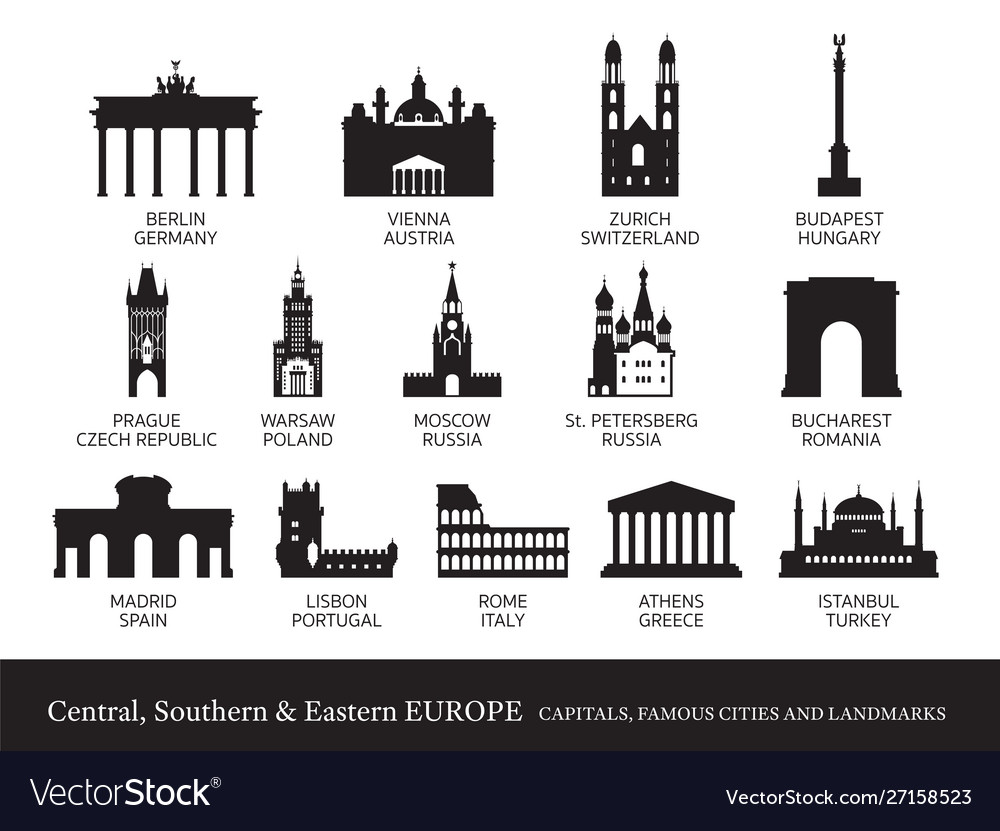 Central southern and eastern europe cities