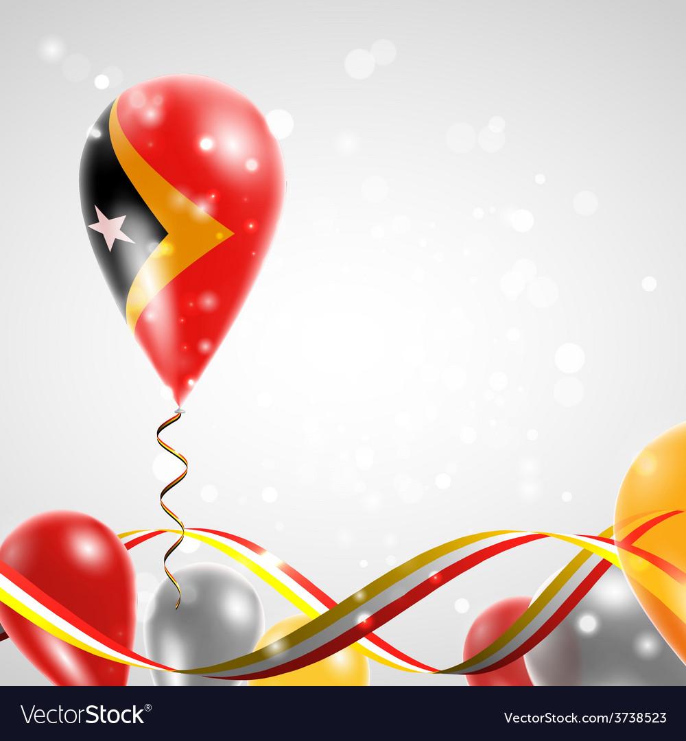 Flag of East Timor on balloon