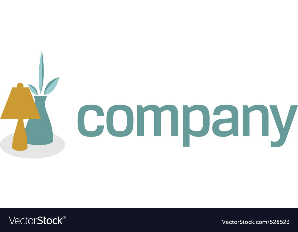 Lamp And Bowl For Decor Logo Royalty Free Vector Image
