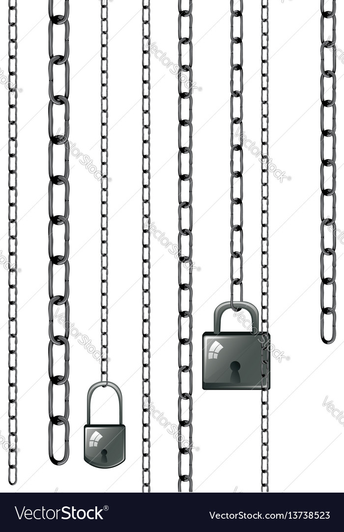 Lock with chains