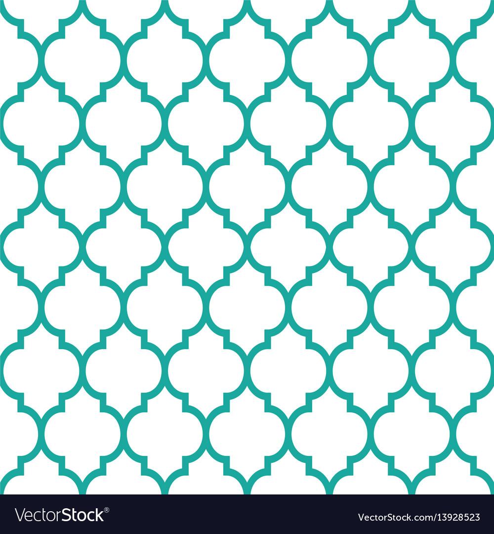 Seamless Turqoise Pattern Vector Image