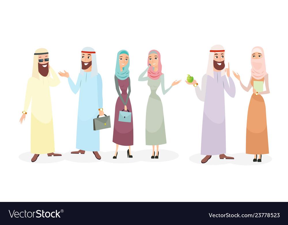 Set arabic business people