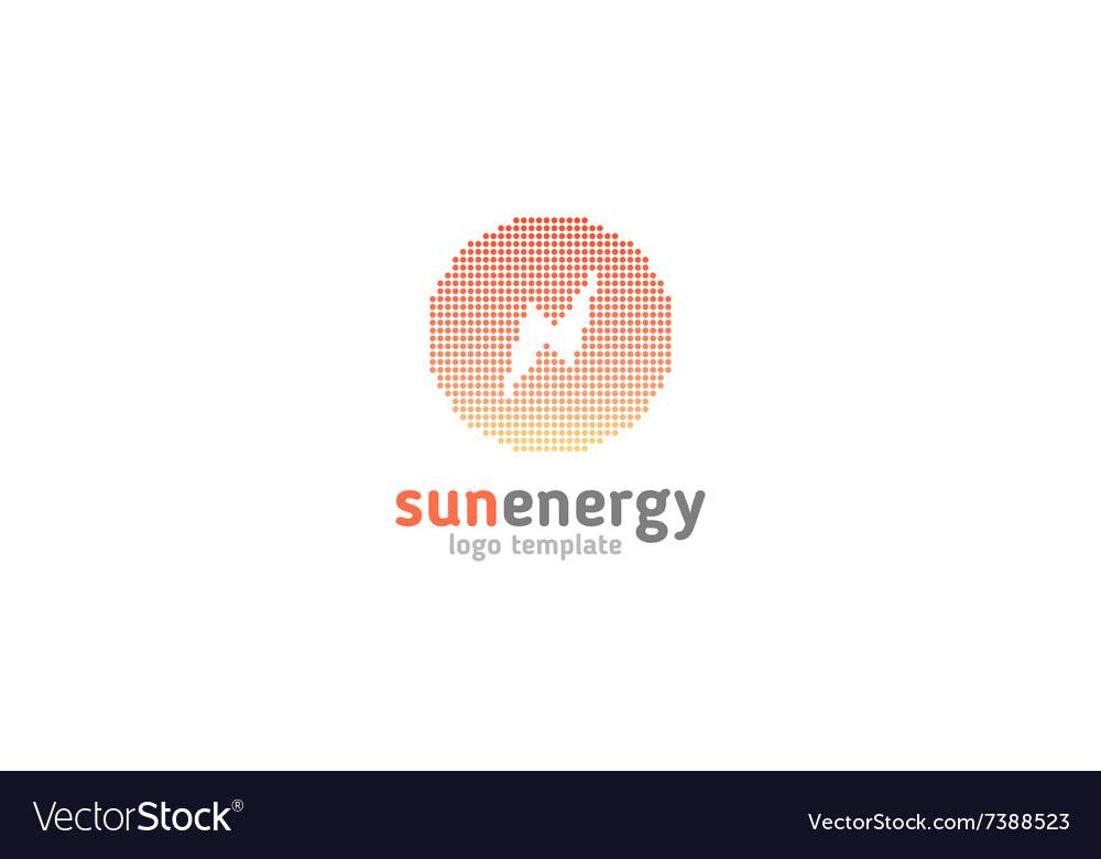 Solar energy logo design concept Creative sign vector image