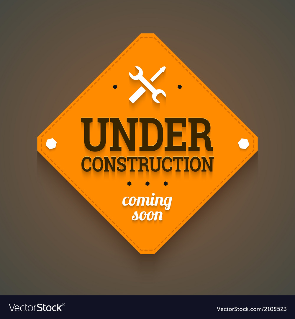 Under construction with coming soon label