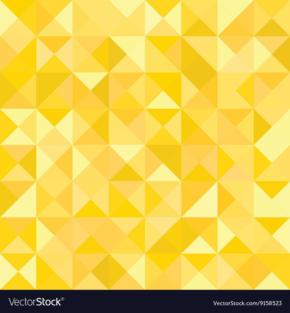 Yellow Abstract Pattern - Triangle and Square
