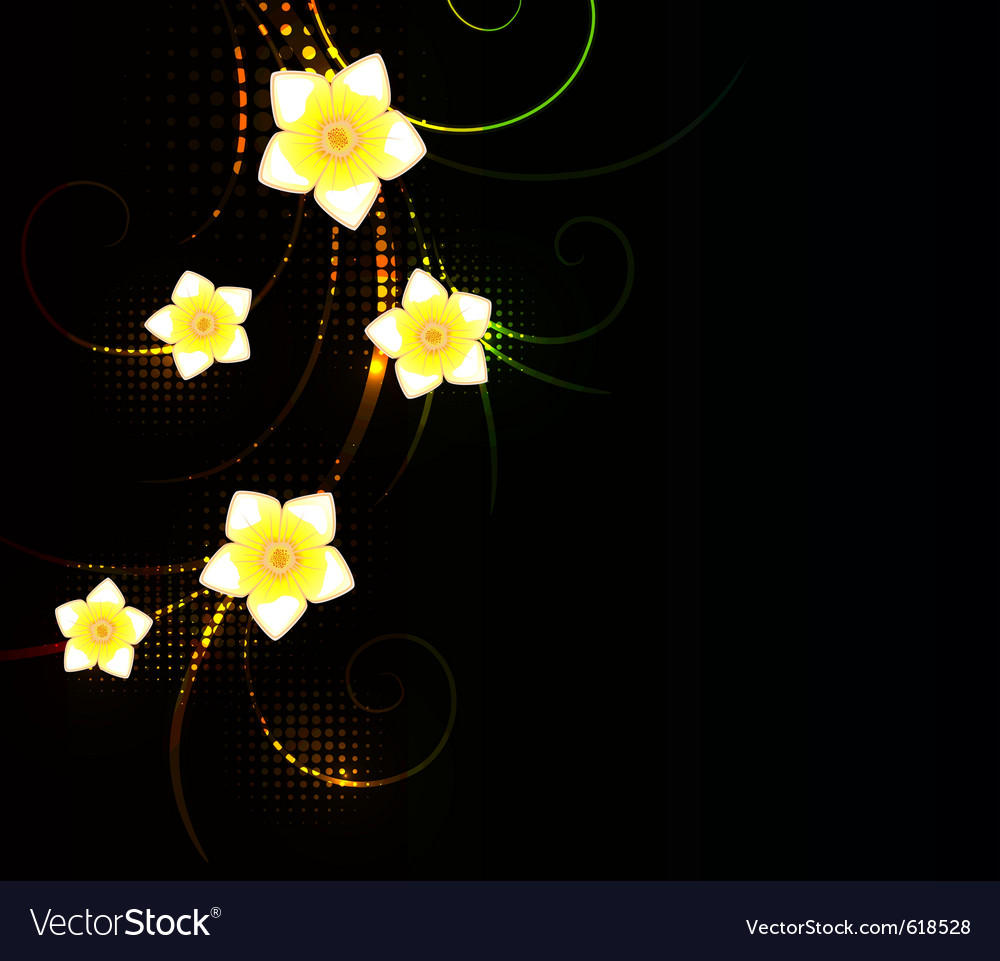 Abstract fantasy floral background vector image