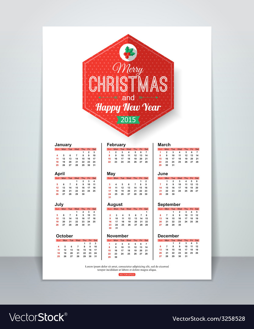 Calendar template brochure business design with vector image accmission Images