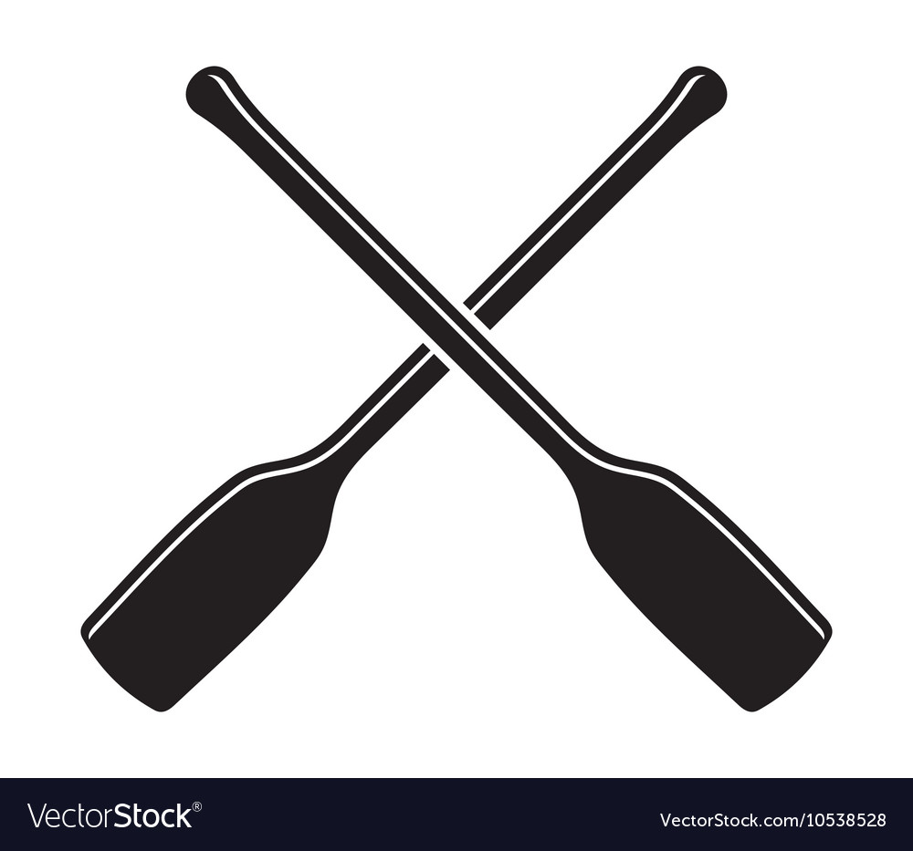 Canoe with Paddle icon1 vector image