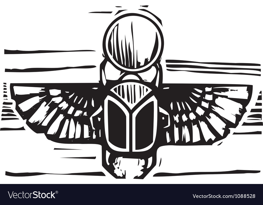 Egyptian Winged Scarab Royalty Free Vector Image