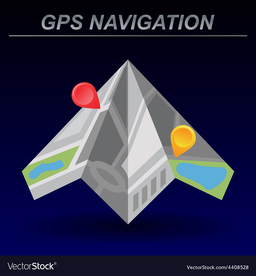 global positioning system navigation royalty free vector
