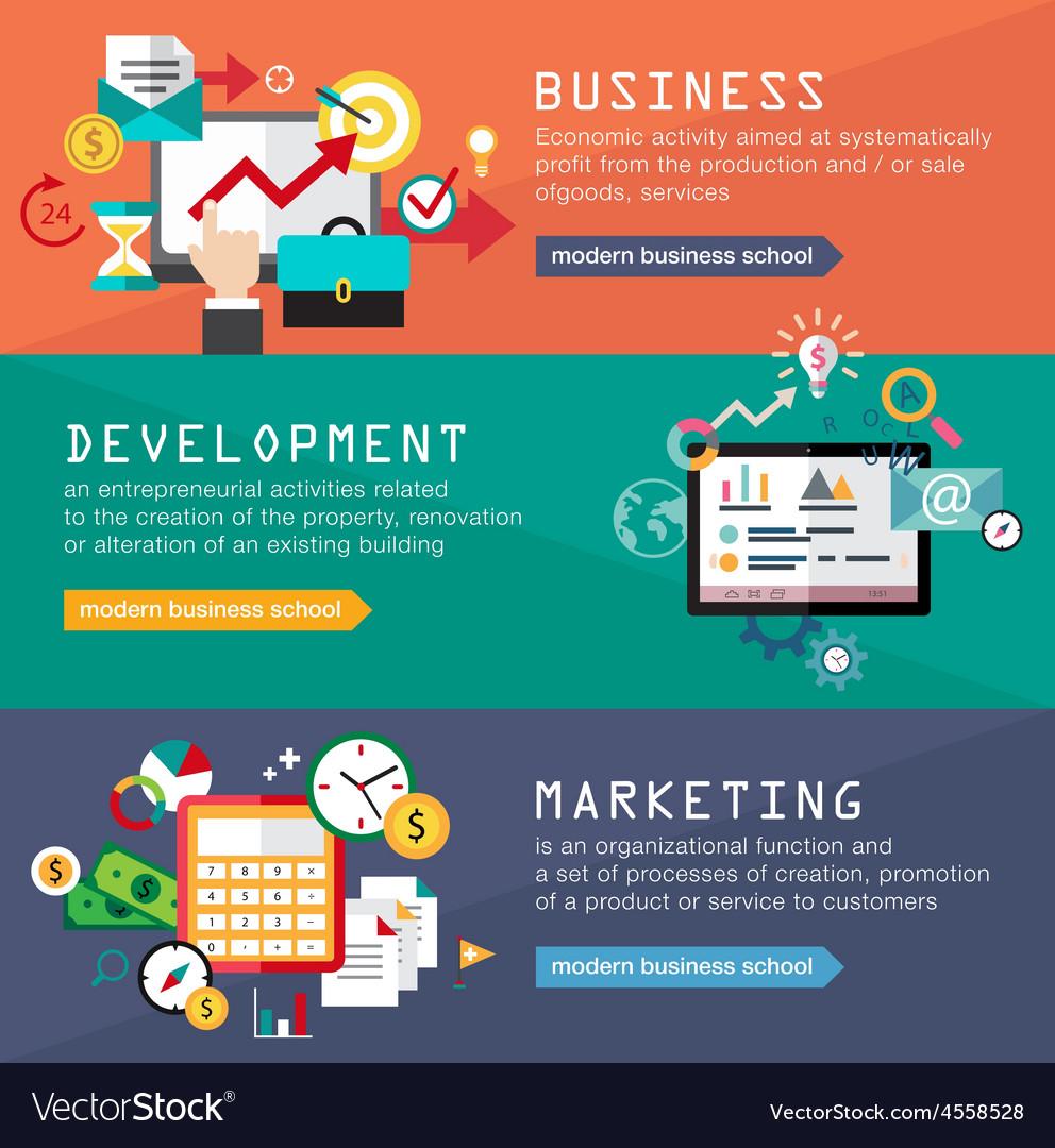 Set Banners For Web Design Digital Marketing Vector Image,Blue Scandinavian Bedroom Design