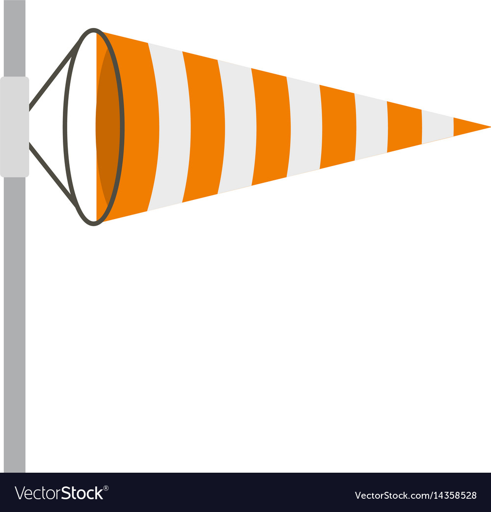 Wind direction indicator icon isolated