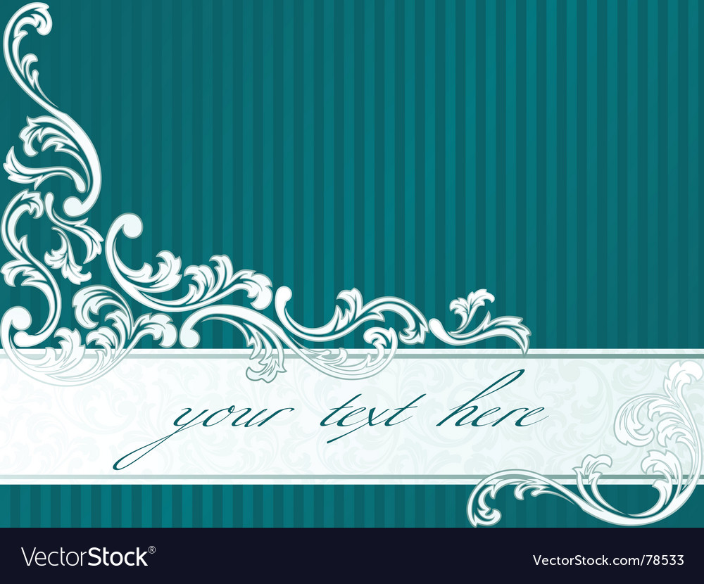 French retro banner in green vector image