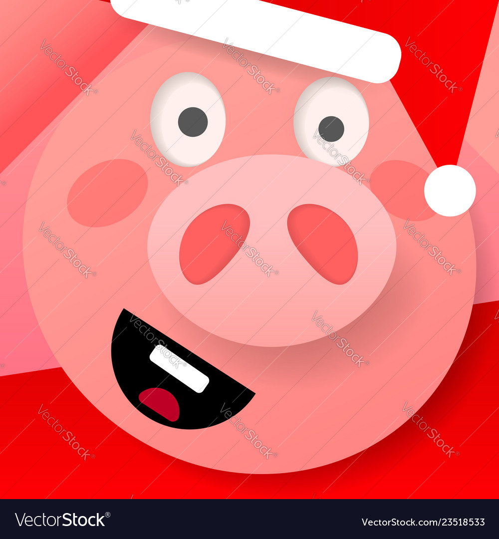 Happy chinese new year 2019 pig zodiac sign on