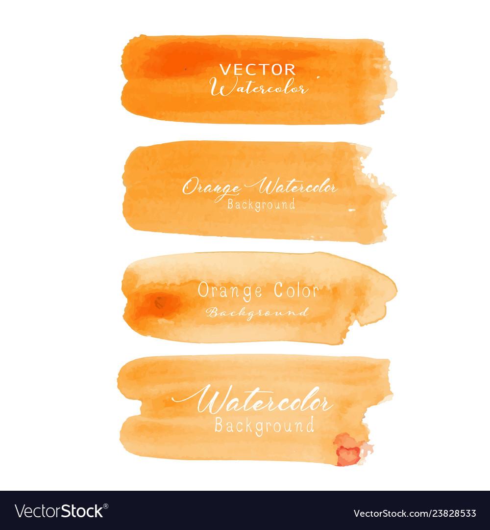 Orange brush stroke watercolor