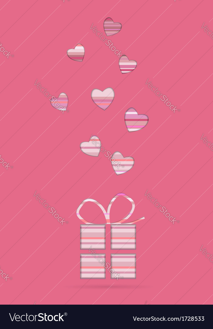 Valentine card with present