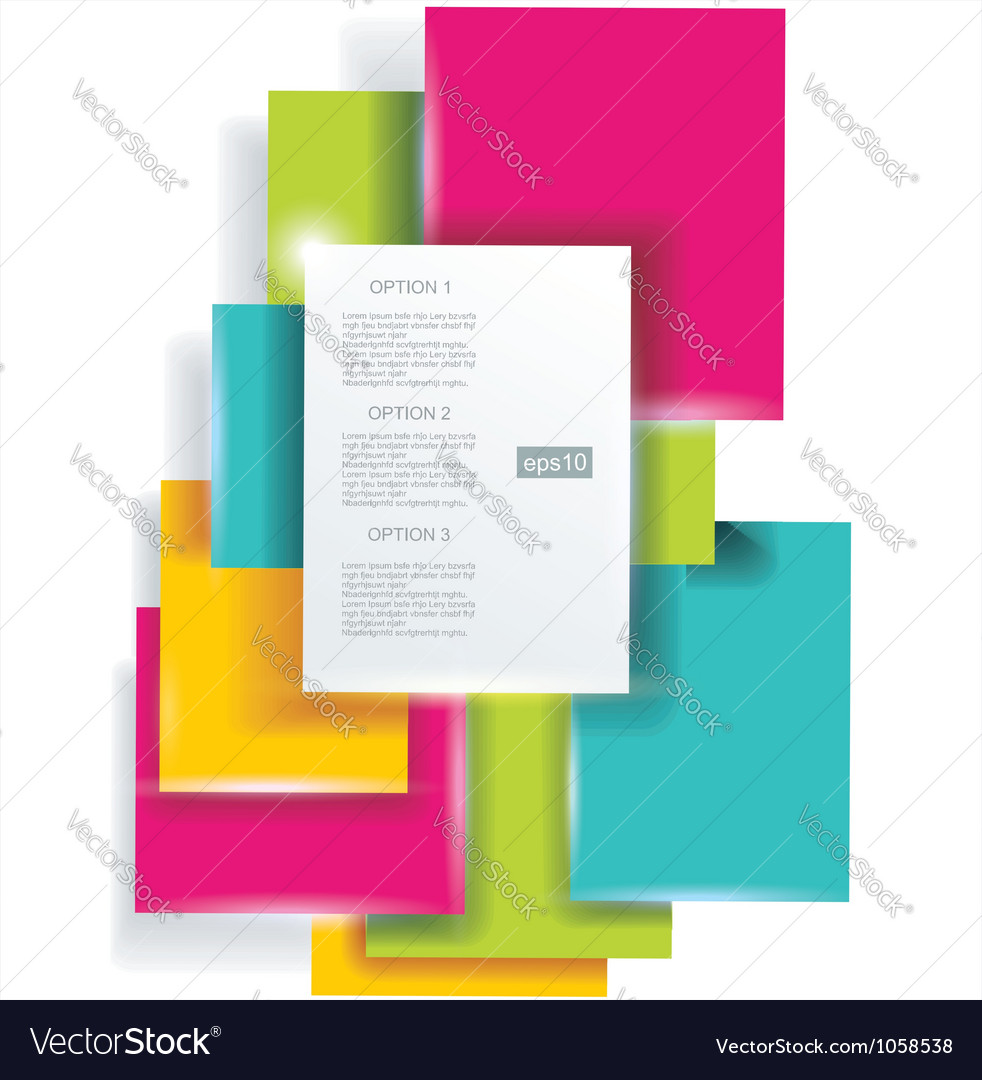 Blank square background for Your Text - Realistic vector image