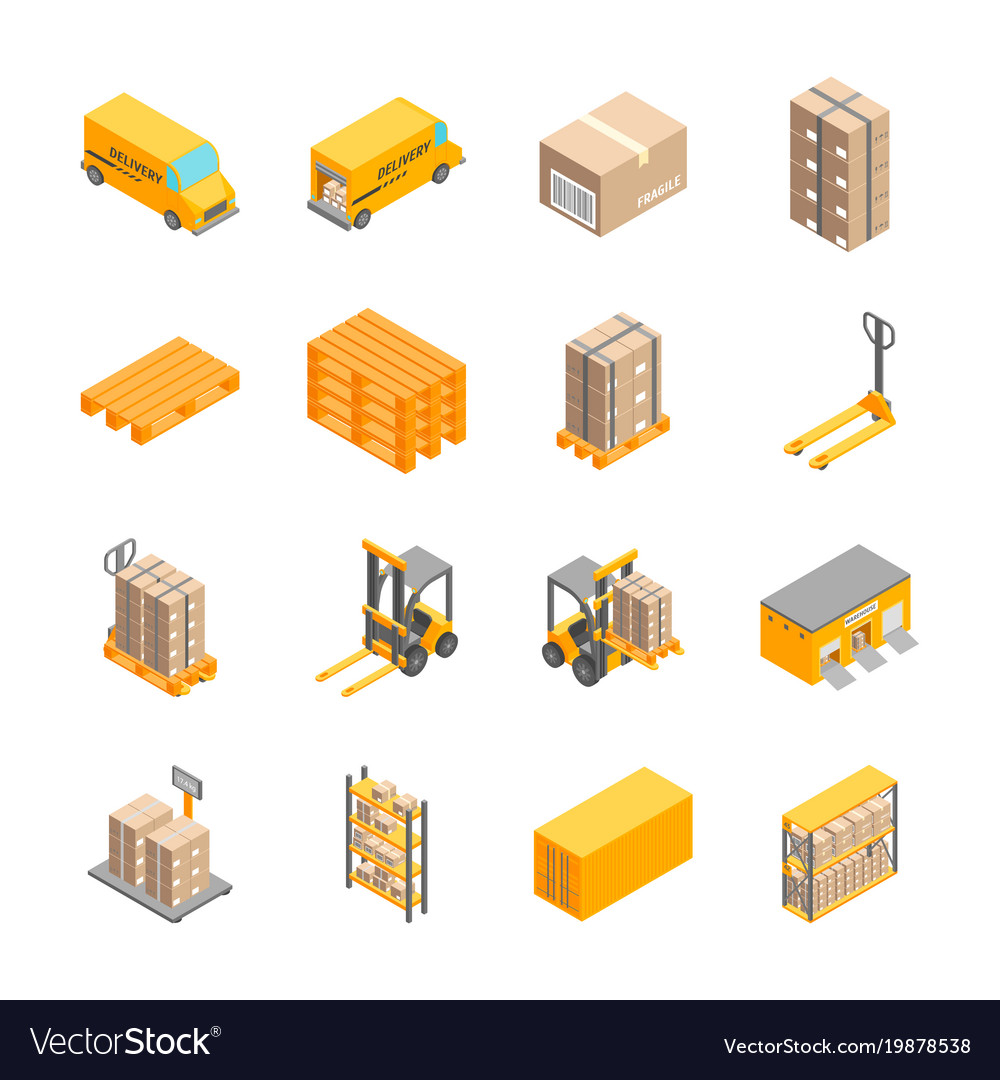 Logistic delivery service signs icons set vector image