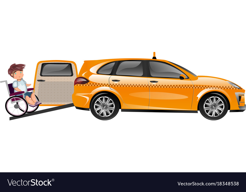 Taxi designed for transportation of persons with