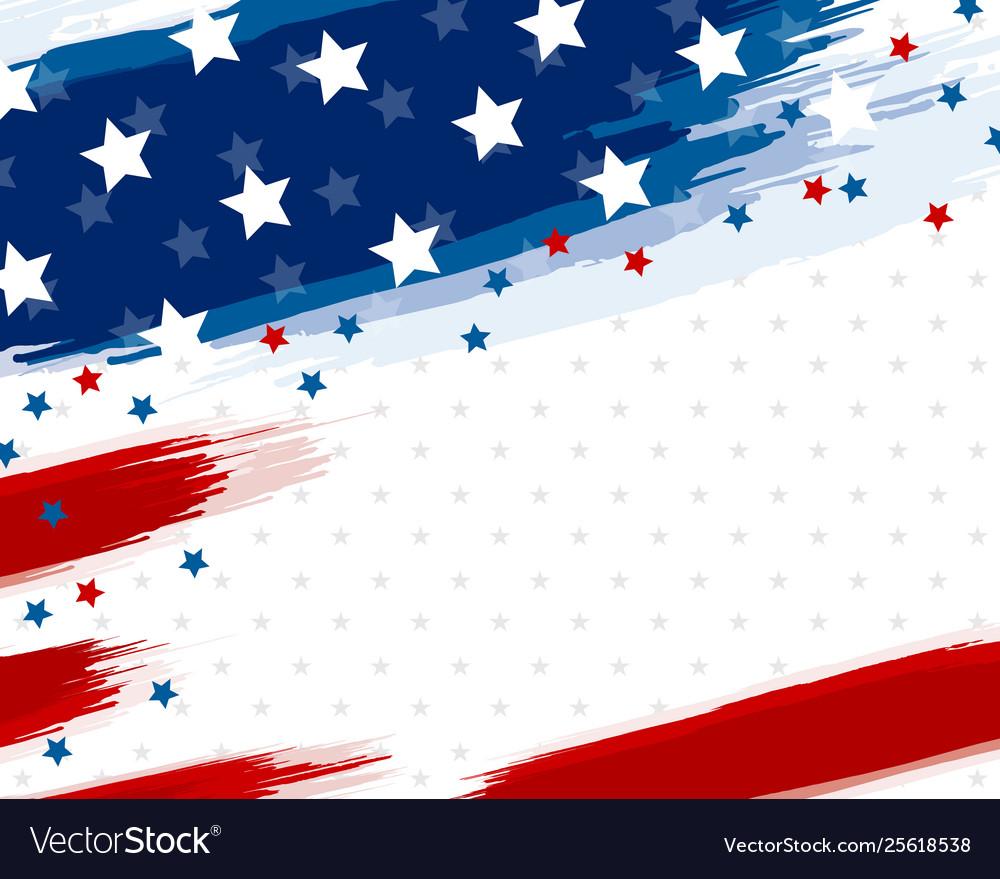 Usa or american flag paintbrush banner