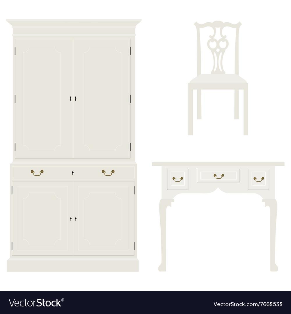 Vintage white furniture
