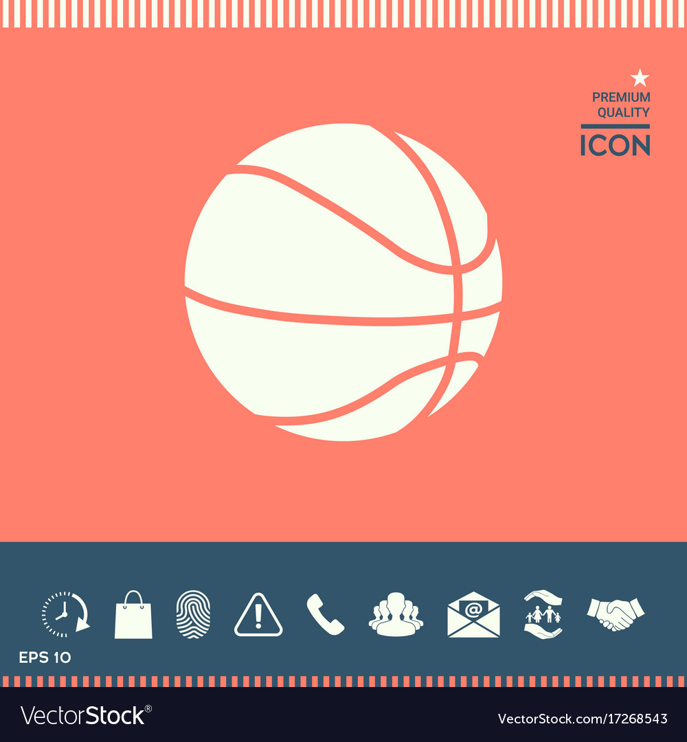 Basketball ball icon vector image