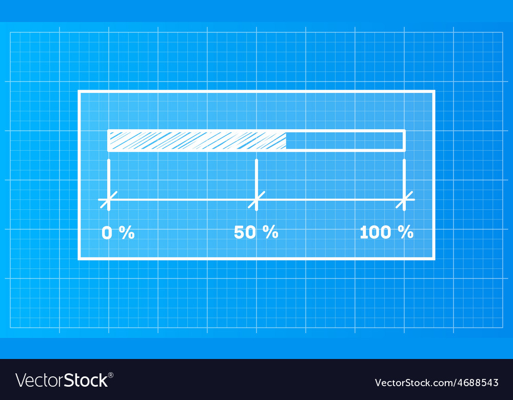 Digiral download bar on a blueprint background vector image malvernweather Image collections