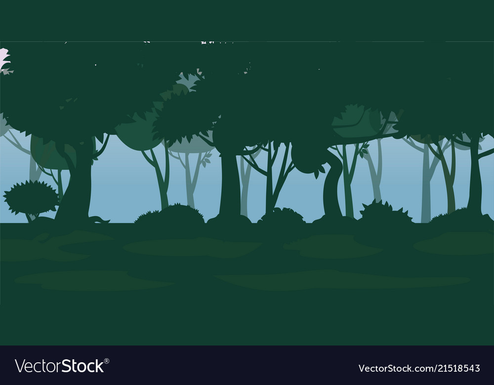 Forest background trees bushes and