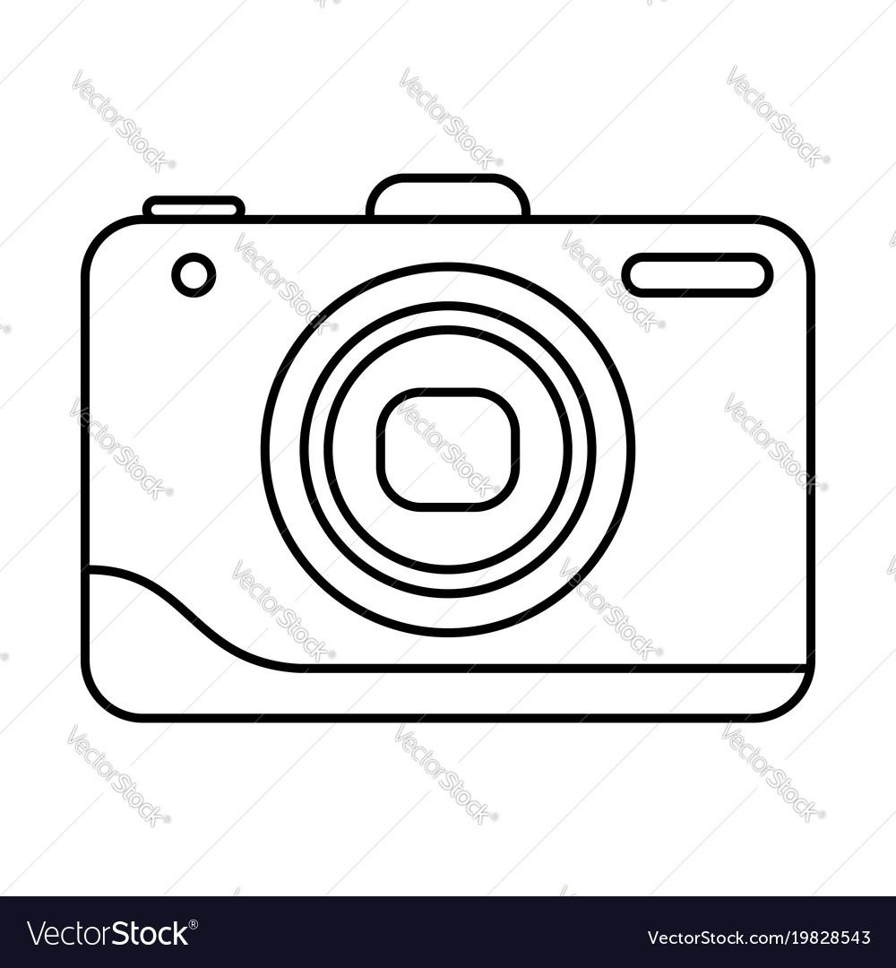 Line icon photo camera