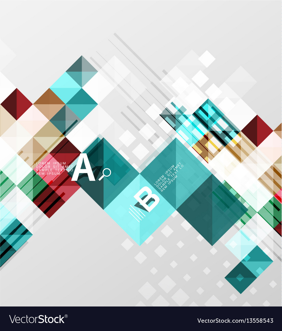 Modern geometrical square banner minimalistic