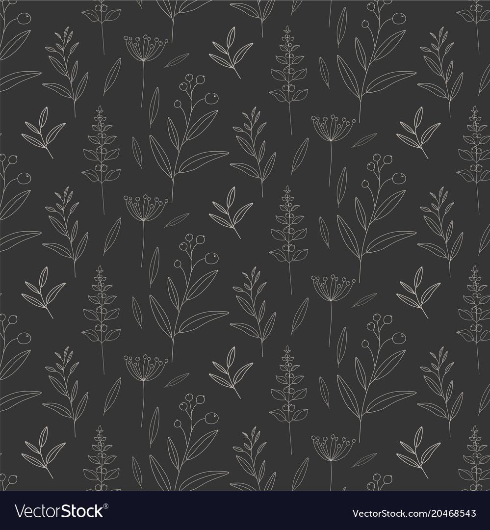 Monochrome floral pattern background