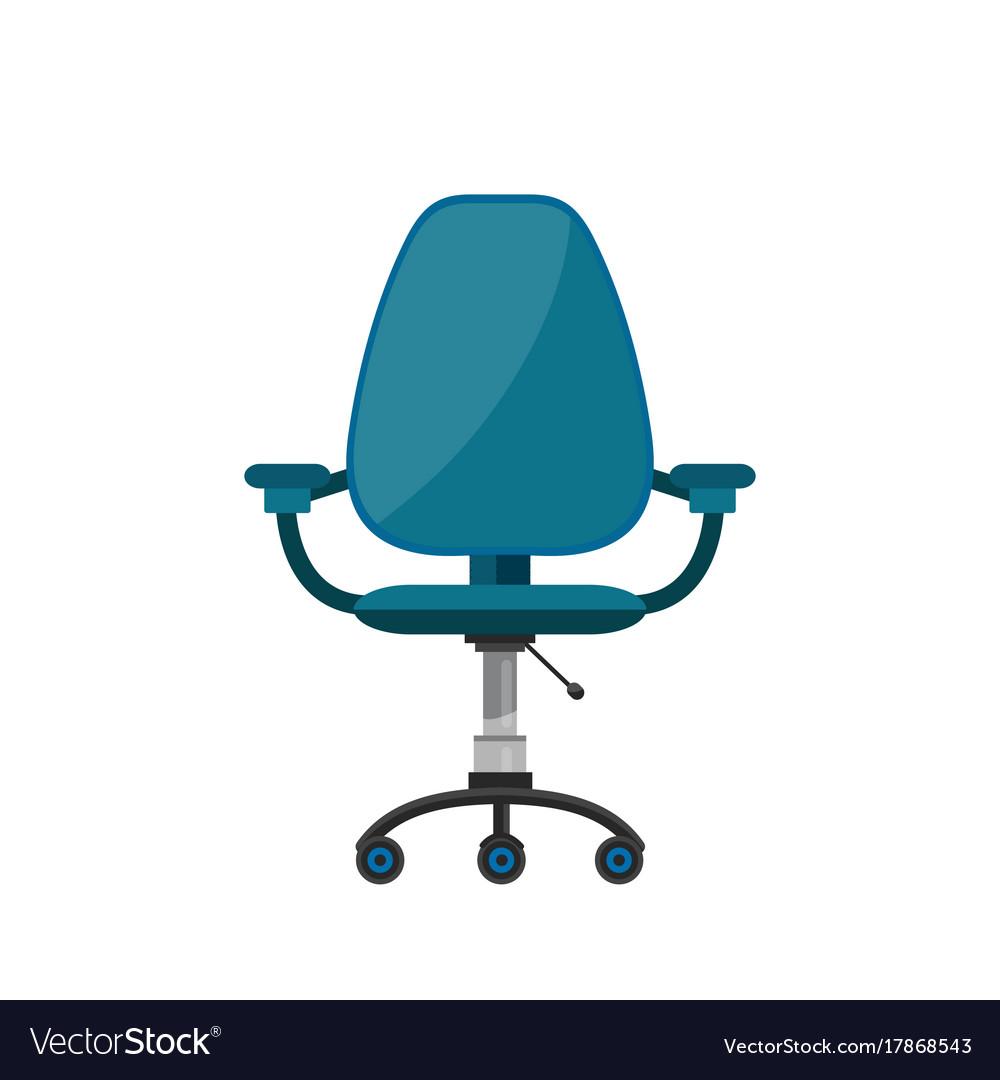 Office Chair Flat Cartoon Vector Image
