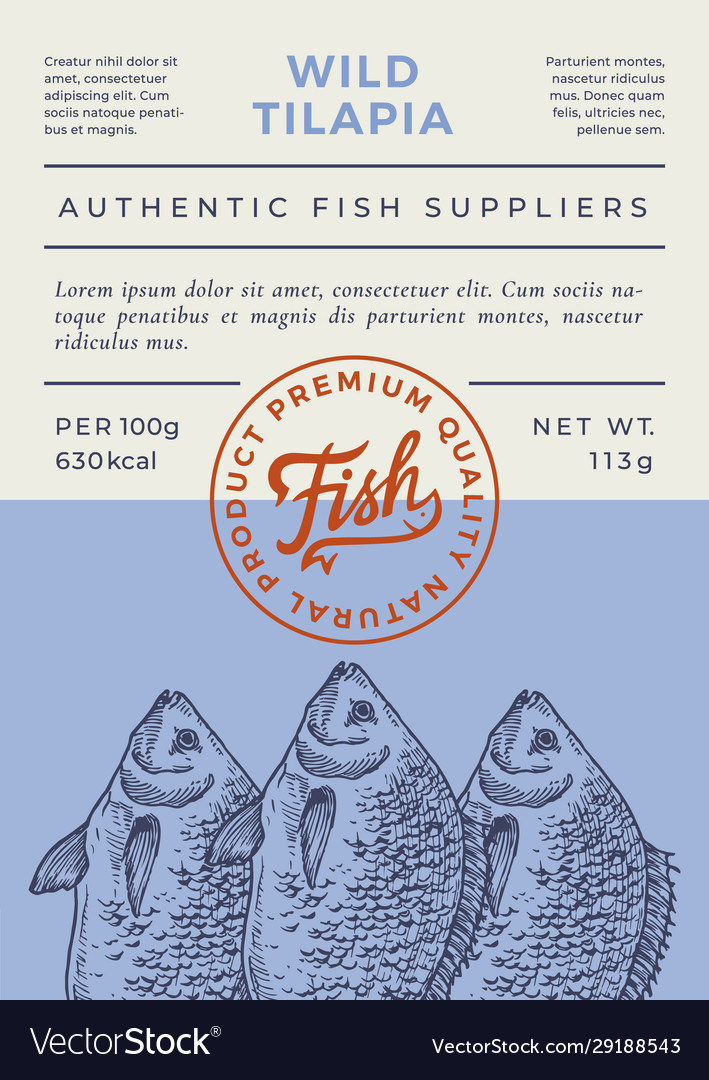 River fish abstract packaging design or