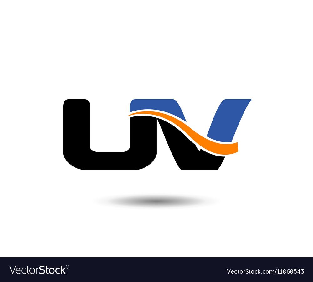 UV company linked letter logo