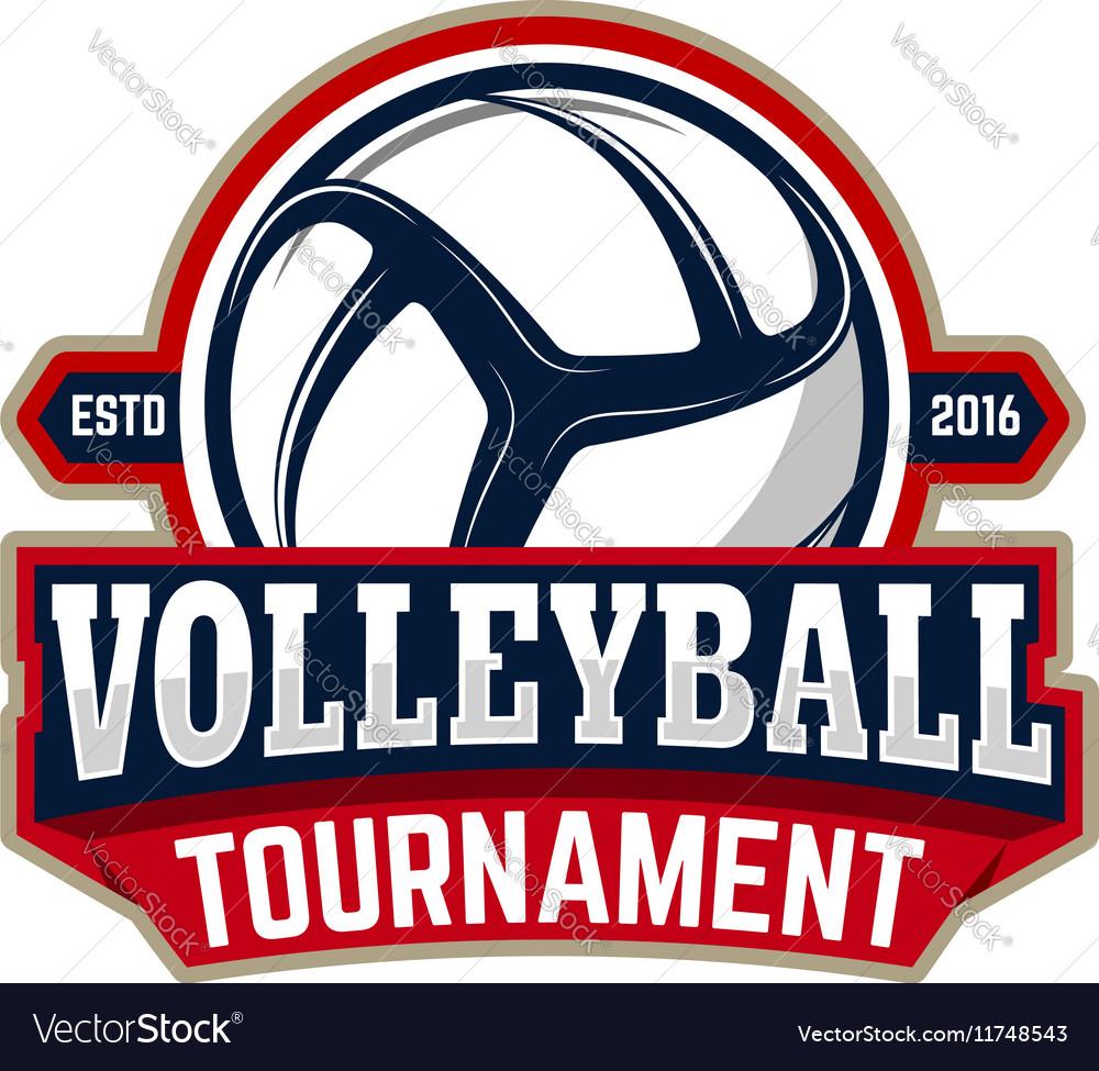 Volleyball tournament emblem template