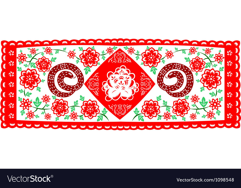 Chinese New Year Snake vector image