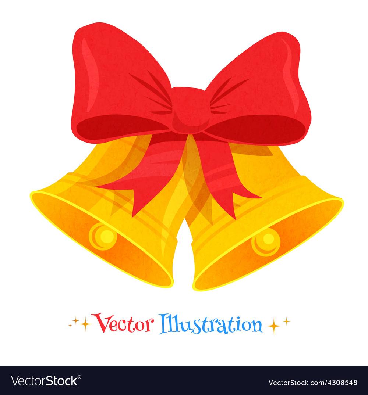 Christmas bells vector image