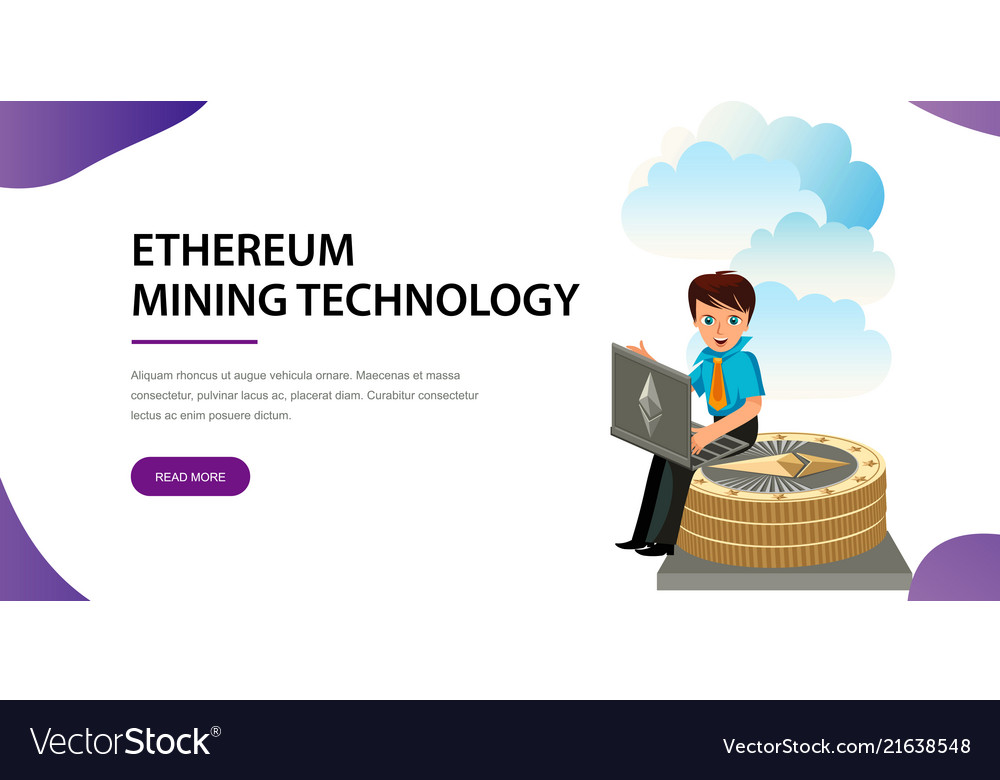 Ethereum crypto currency flat poster
