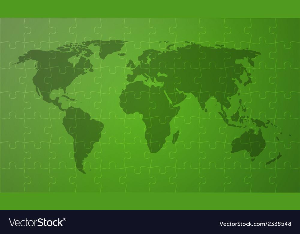 Green worldmap vector image