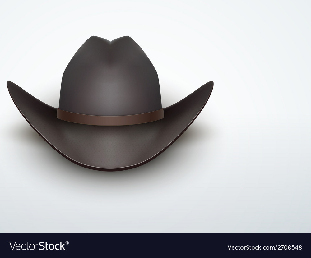 Light Background Black cowboy hat
