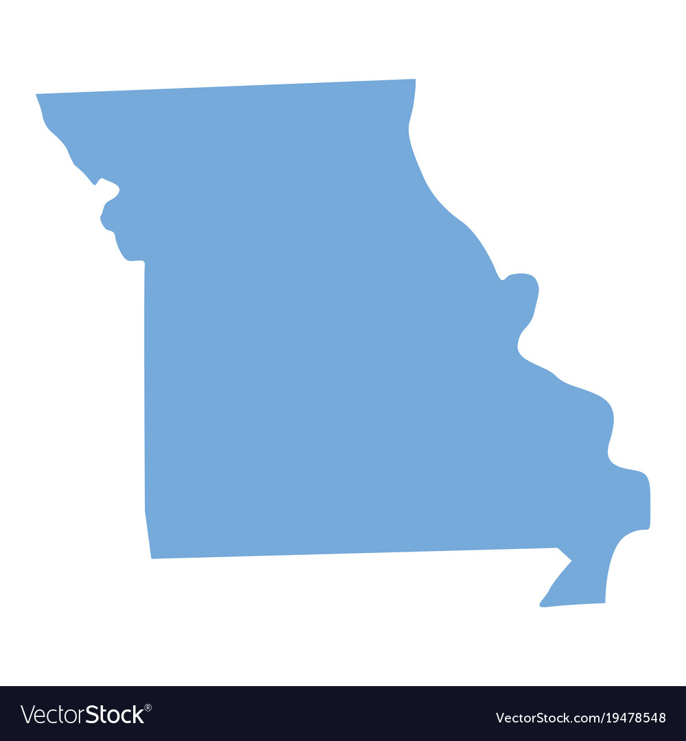 Missouri state map vector image