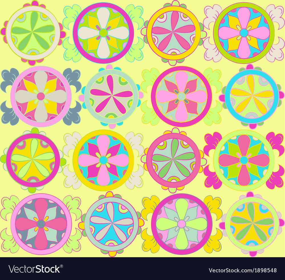 Round ornament elements vector image