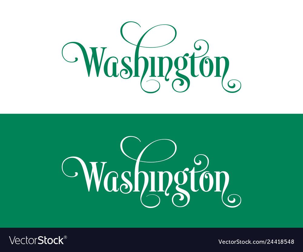 Typography of the usa washington states
