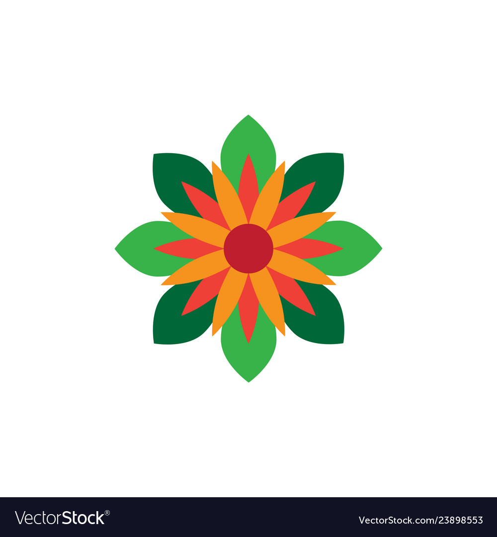 Abstract star shape flower image