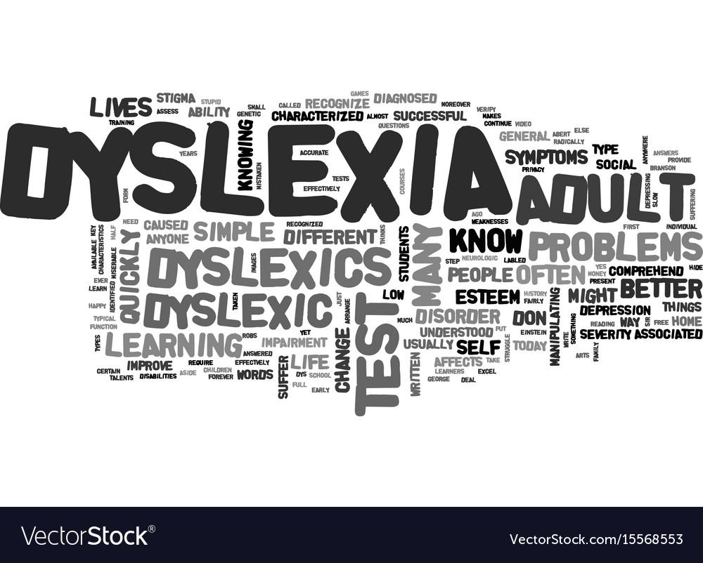 Valuable phrase adult dyslexia test apologise