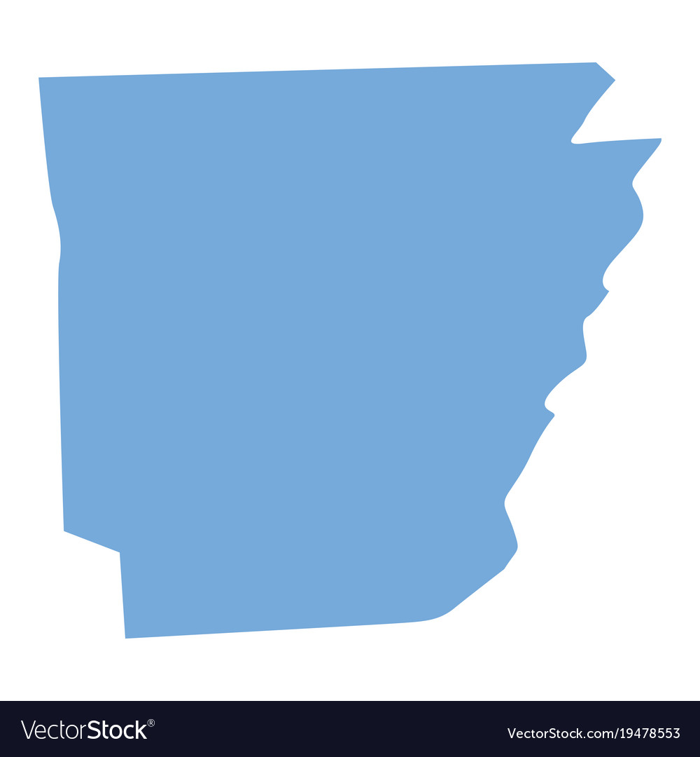 Arkansas state map Royalty Free Vector Image - VectorStock