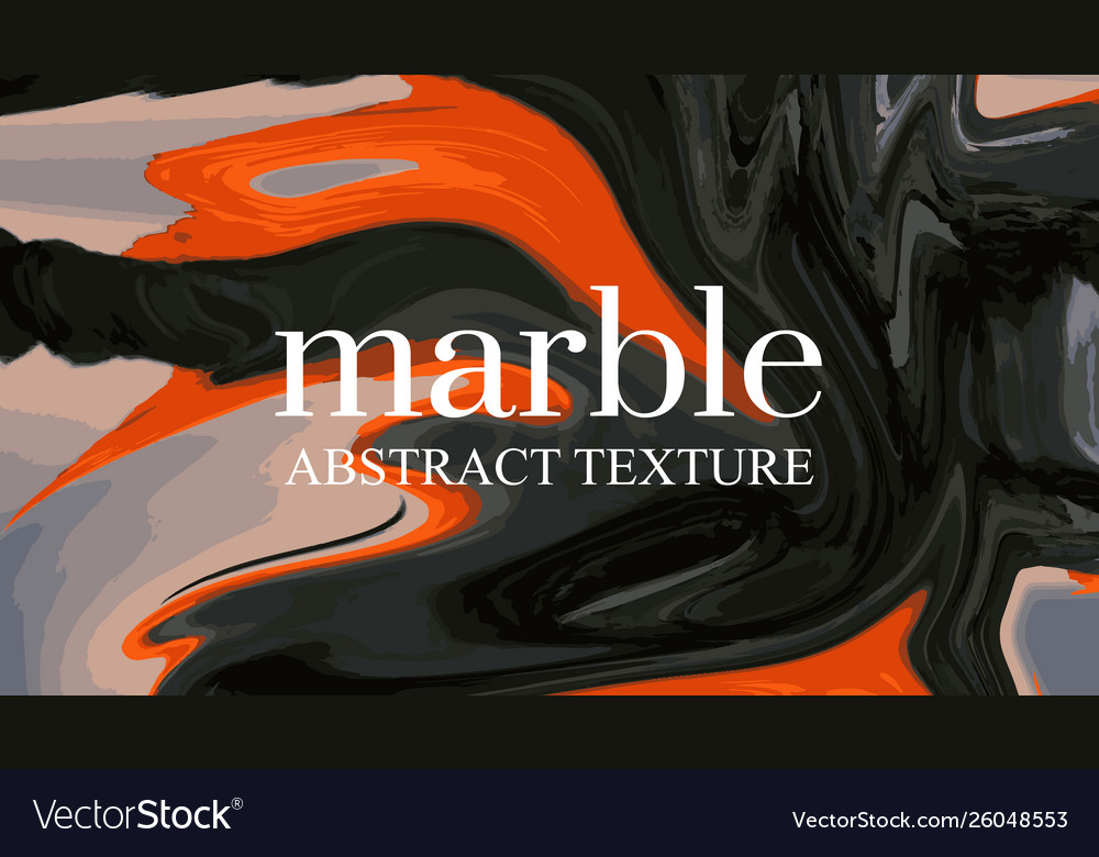 Contrast liquid orange black background marble